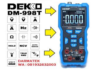 Darmatek Jual DEKKO DM-998T Digital Multimeter Auto Range - True RMS Avometer
