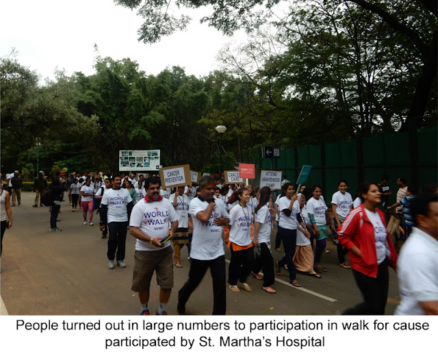 Staff of St Martha's Hospital Participate in World Walk in Support of Prevention and Care for Cancer