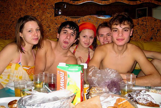 Любительские съемки домашней вечеринки