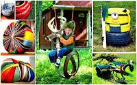 juegos para niños a partir del reciclaje de neumaticos