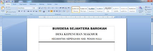 Panduan Membuat Surat Resmi Dengan Mudah Menggunakan Microsoft Word, cara membuat kop surat resmi, panduan membuat membut surat resmi menggunakan microsoft word, bagaimana membuat surat resmi, cara membuat surat resmi bagi pemula