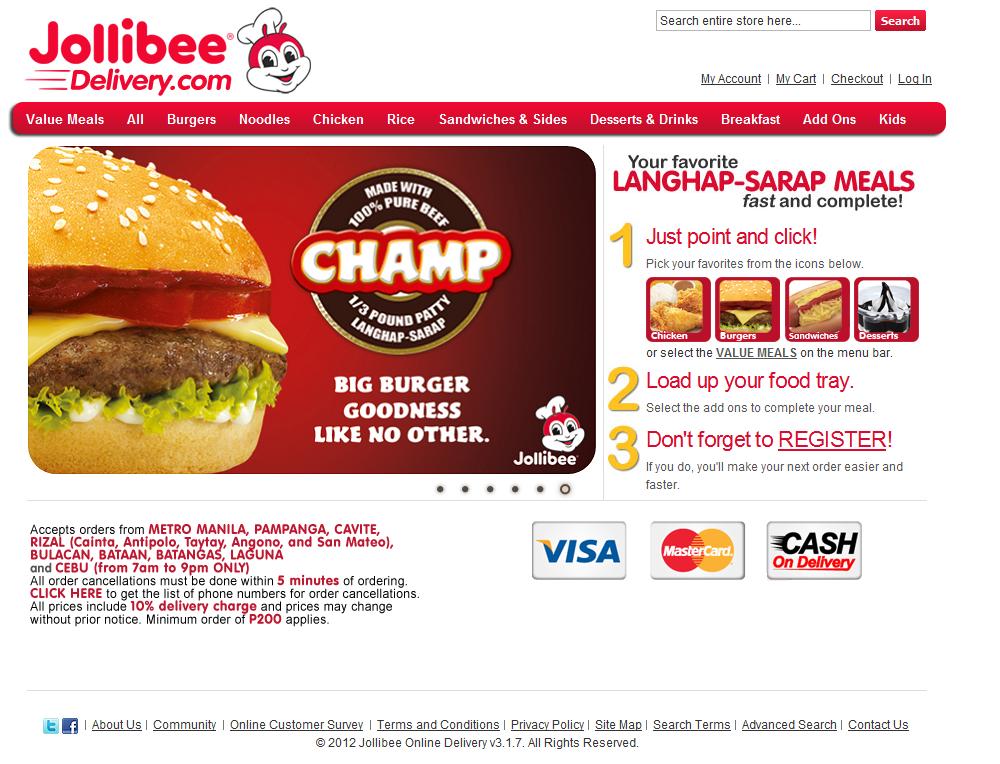 Delivery Jollibee Laoag Online