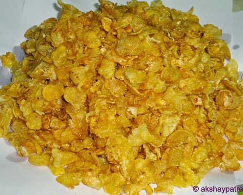 drained corn flakes