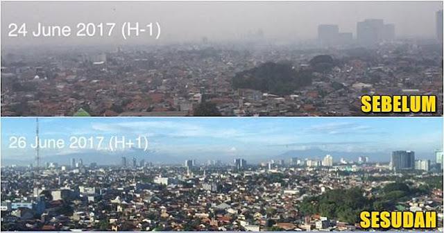 Langit Jakarta Bersih Ditinggal Pemudik