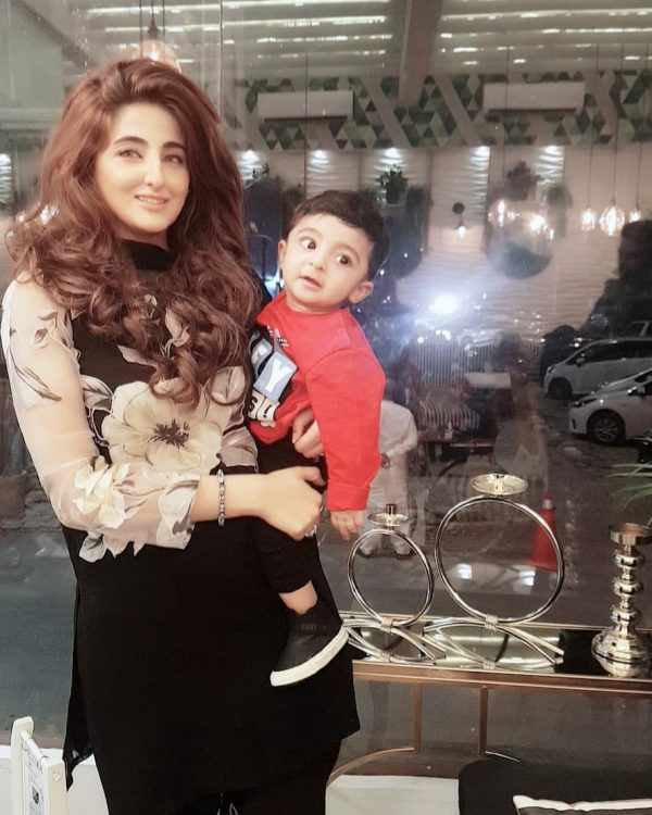 Actress Fatima Sohail New Pictures with her Son