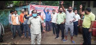 #JaunpurLive : मँहगाई भत्ता एवं राहत एरियर के साथ भुगतान करने हेतु पीआकेएस का प्रदर्शन