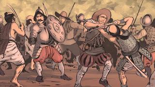 Combates de Cagayán - espadas españolas vs katanas japonesas