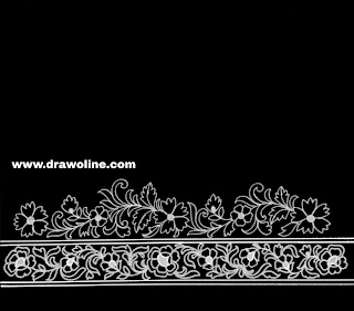 Said ka kinara drawing for hand embroidery/sari khaka design drawing easy/saree border drawings