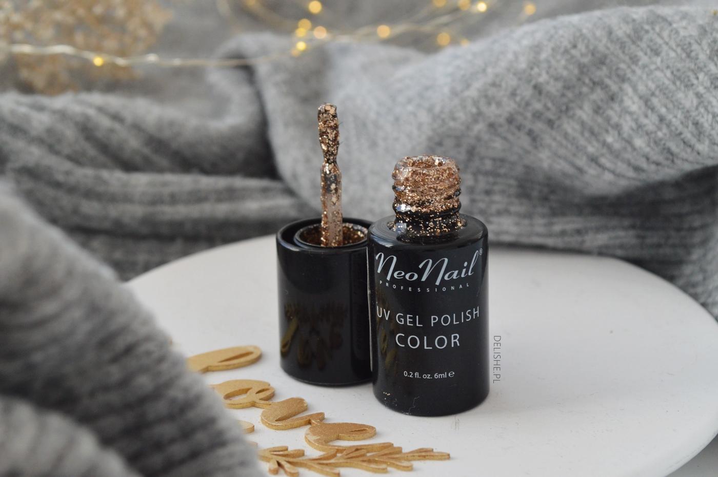 Champagne Kiss NeoNail idealny złoty lakier