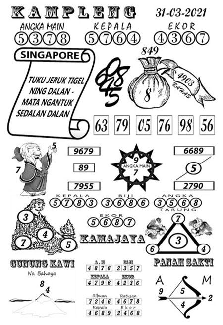 Kampleng SGP Rabu 31-Mar-2021