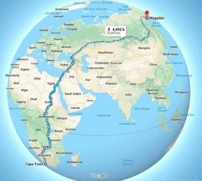 أطول طريق في العالم من اقصى الى اقصى الكرة الأرضية