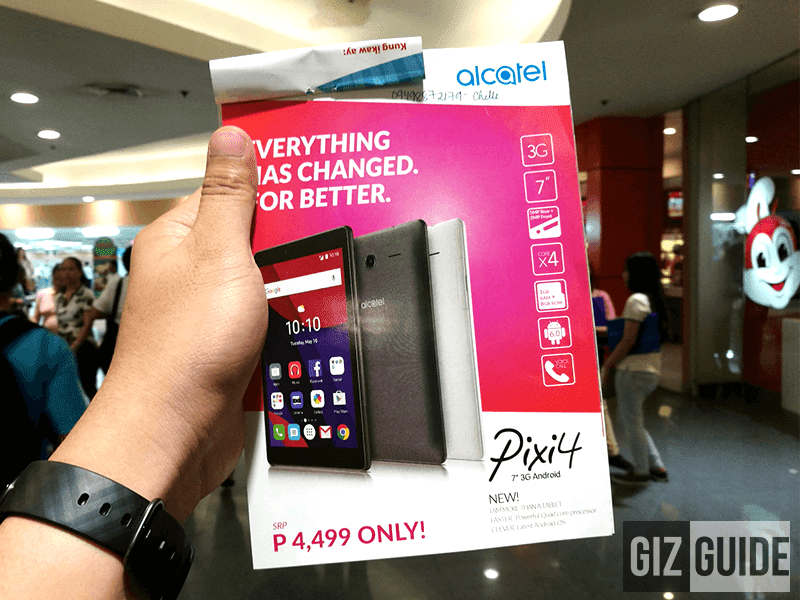 Alcatel Pixi 4 (7) now in the Philippines
