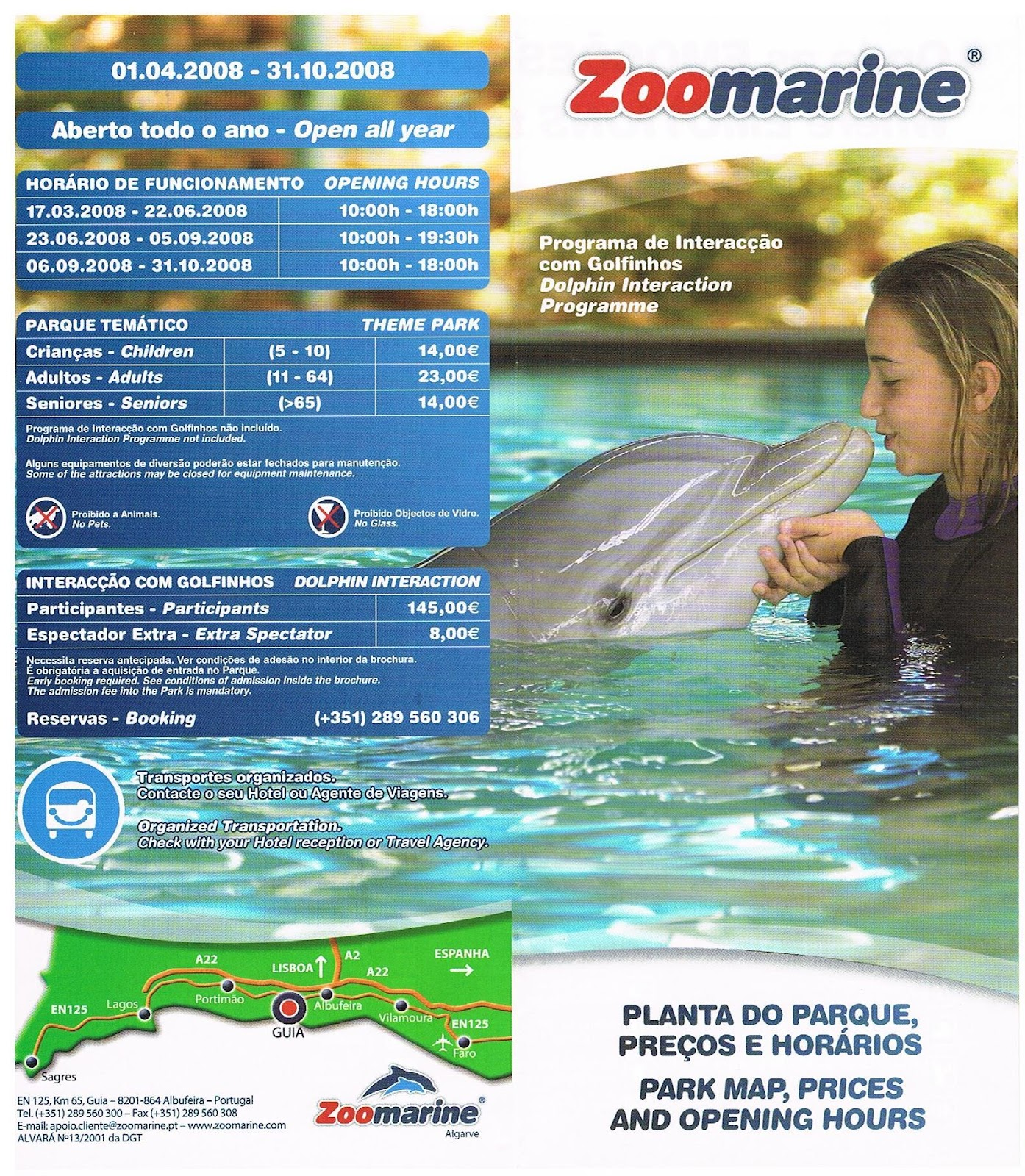 zoomarine mapa Vai e Vem: Zoomarine   Mapa zoomarine mapa