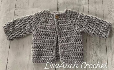 Easy free crochet newborn cardigan pattern