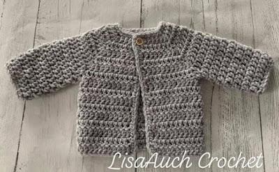 Easy free crochet newborn cardigan pattern