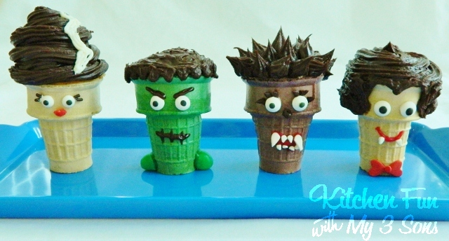 Halloween Creepy Cupcake Cones Kitchen Fun With My 3 Sons
