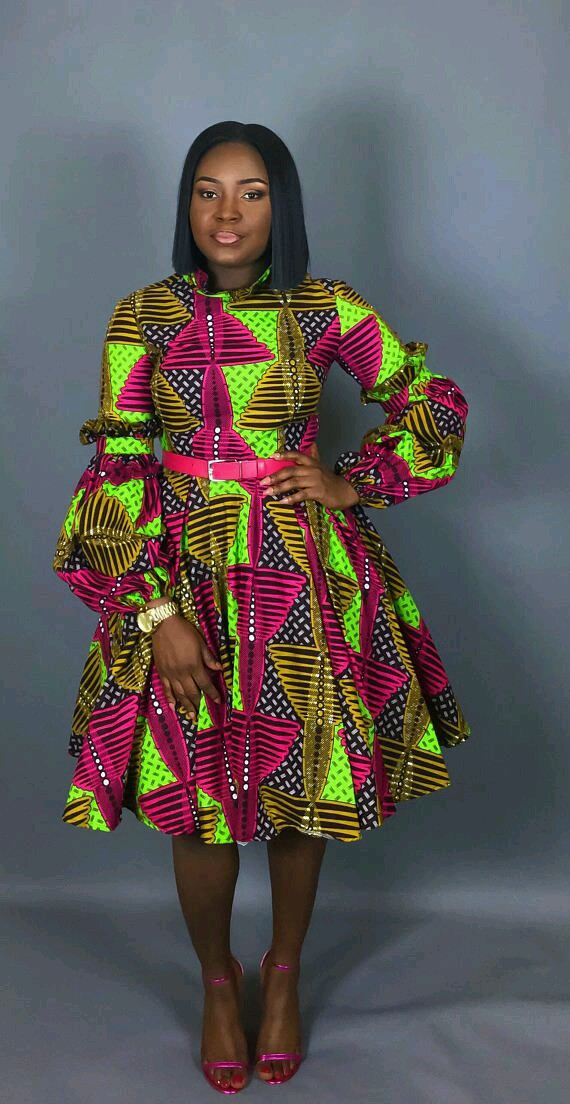 Recent Ankara Short Dress Styles To Keep Looking Stylish