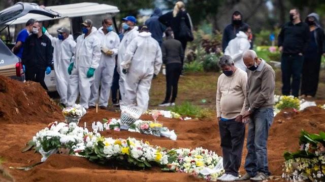 Coronavírus: Brasil tem 1.091 mortes em 24 horas e chega a 64.265 óbitos
