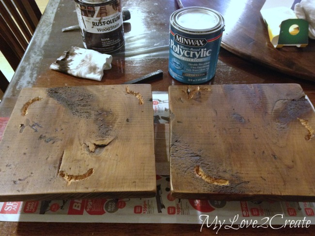 adding poly to wood