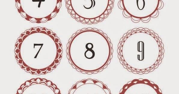 pinky 39 s tinky town diy adventskalenderzahlen zum drucken. Black Bedroom Furniture Sets. Home Design Ideas