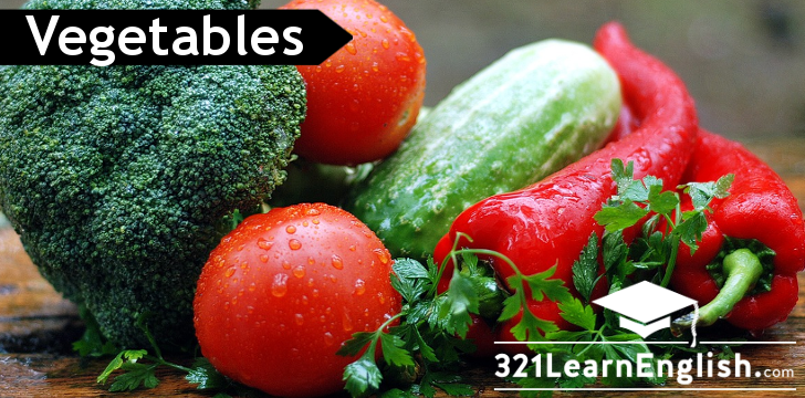 ESL vocabulary: vegetables (basic) (level: A1)