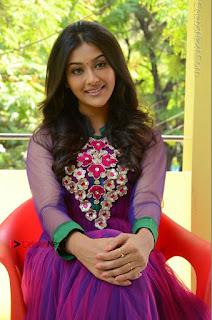 Actress Pooja Jhaveri Latest Stills in Purple Salwar Kameezt at Dwaraka Success Meet  0209.JPG