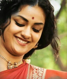 Keerthy Suresh in Saree with Cute and Awesome Lovely Chubby Cheeks Smile in Mahanati 1