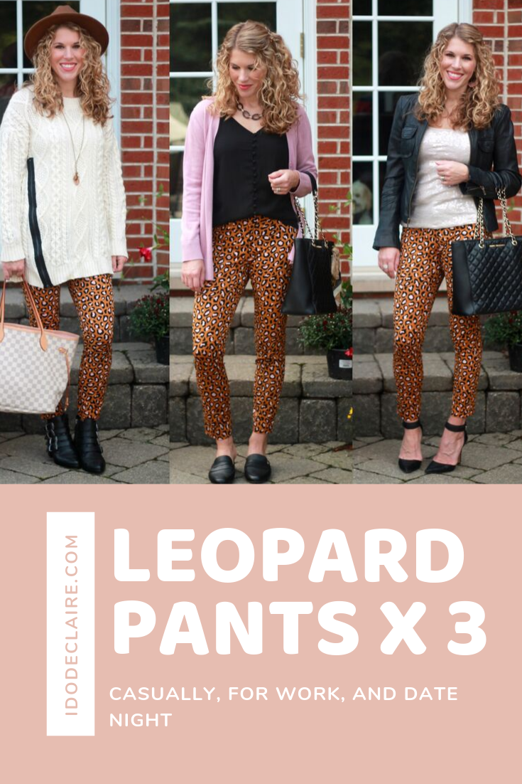 Leopard Pants for Work, Date Night, & Casually