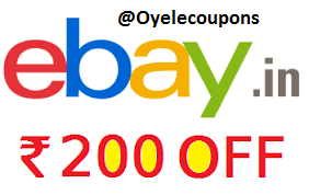 ebay coupon Rs 200 off on 220 New users