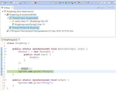 Difference between start and run method of Thread in Java