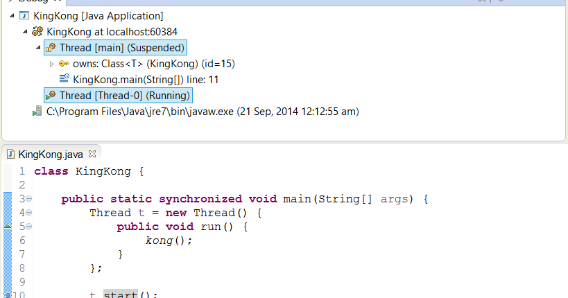 Difference between Thread.start() and Thread.run() method in Java