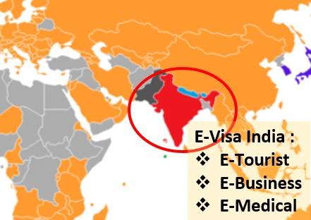 Pakai E-Visa India Online