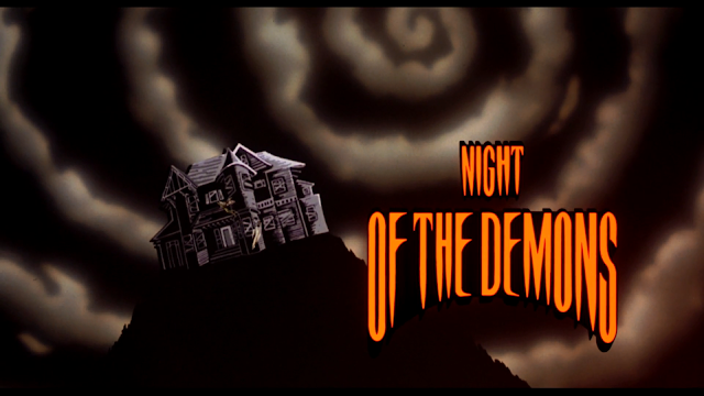 Animated title card from NIGHT OF THE DEMONS (1987)