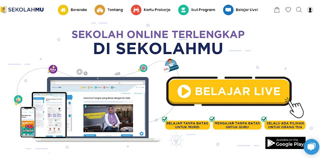 aplikasi belajar di rumah dengan aplikasi gratis