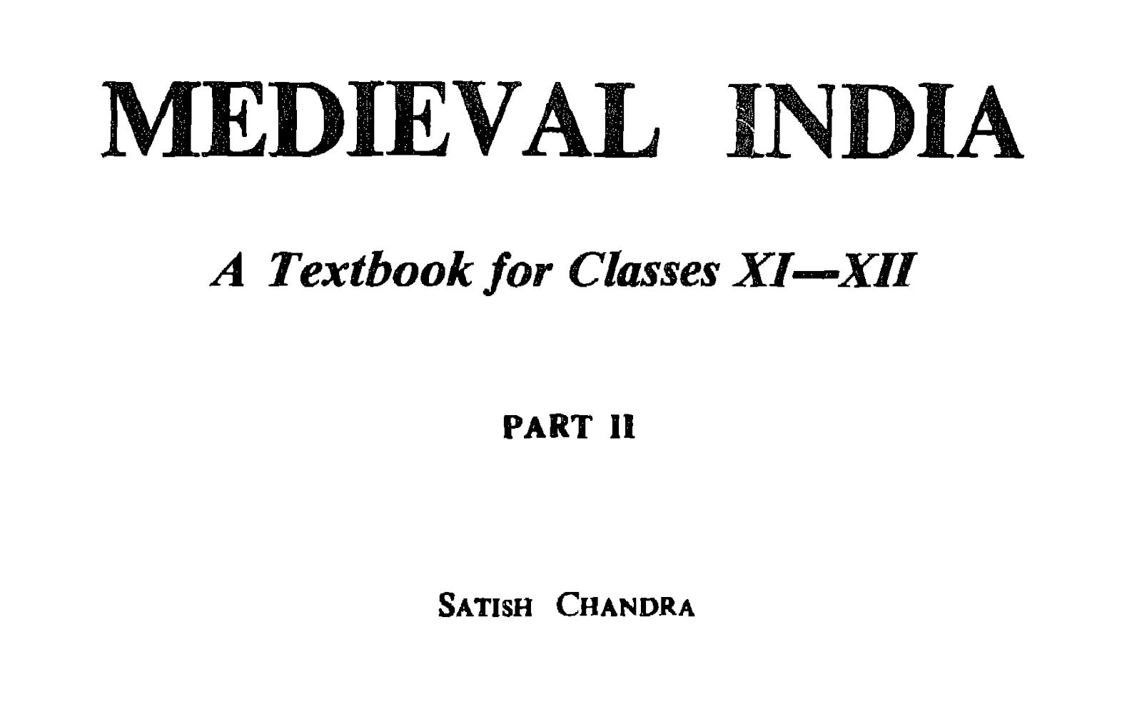 Chandra india pdf satish medieval of history