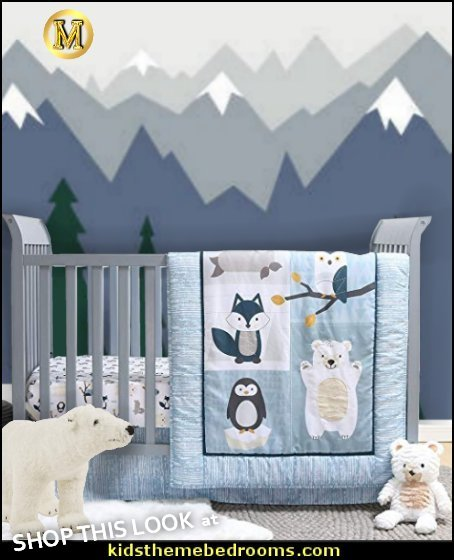nordic winter baby bedroom Nordic Wonder Arctic Baby Crib Bedding Baby Nordic style nordic kids rooms winter bedrooms