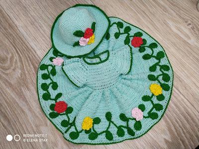 Платье  с шляпкой