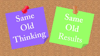 Mindset, Same old thinking, same old results. Habits, Mind, change