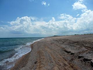 Арабатская стрелка. Херсонская область. Побережье Азовского моря