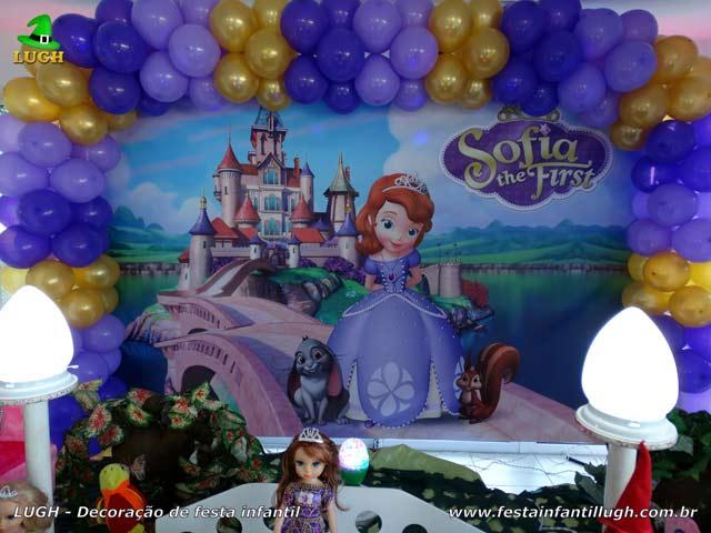 Decoração festa Princesa Sofia