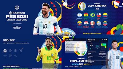 PES 2021 Menu Mod Copa America 2021 by PESNewupdate