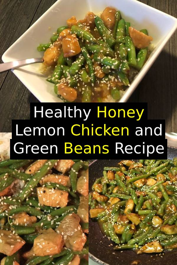 This Healthy Honey Lemon Chicken and Green Beans is a light and fresh meal with a ton of flavor. Dinner is on the table in just 20 minutes! #healthydinner #dinner #chicken #comfortfood #easydinner #maindish
