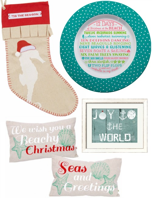 Decor with Beach Christmas Quotes