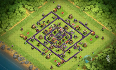 Base Hybrid TH 8 Clash Of Clans Terbaru Tipe 8