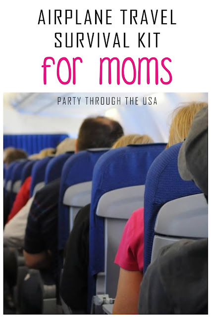 Survive your time on the airplane with this special kit of essentials for moms.