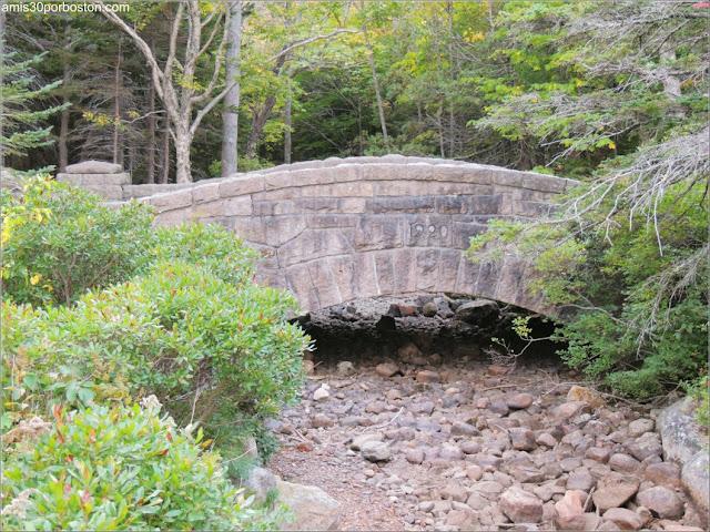 Puente Revestido en Piedra cerca de Jordan Pond en Acadia, Maine