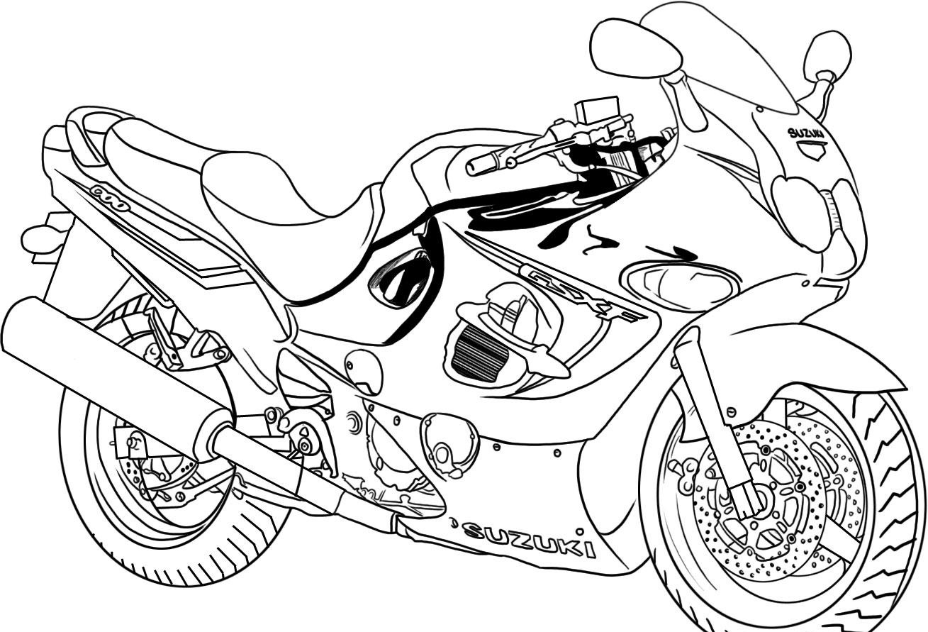 kids page  suzuki bike coloring pages