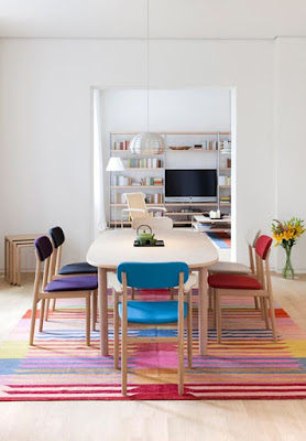 How to decorating dining room with pop-colors