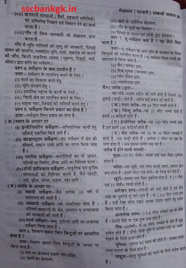 UP Lekhpal Exam Syllabus pattern