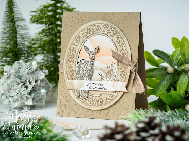 carte de Noël avec le jeu Nature's Beauty Stampin' Up!
